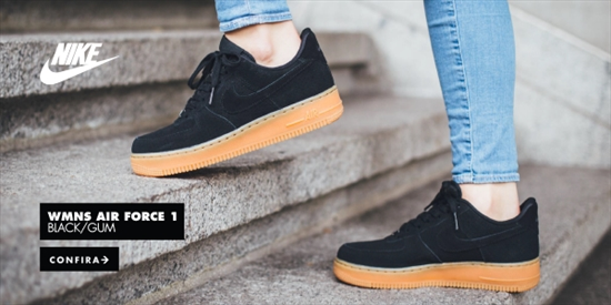 f5c7bc0c64a3a Nike WMNS Air Force 1 Suede Black/Gum 13/11/2015
